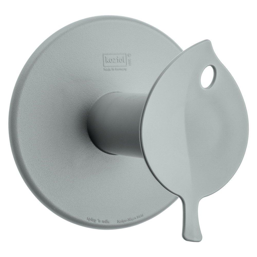 koziol 5236525 Sense porta rotolo, thermoplastischer plastica, Solid bianco Bio, 13 x 12,7 x 12,7 cm 13x 12 7x 12 7cm