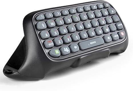 TNP Teclado para Mando Xbox 360, Chatpad inalámbrico para las mensajes de Live Messenger para Xbox 360 (Negro)