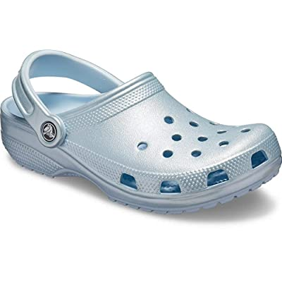 Crocs Classic Clog, Metallic Mineral Blue, 11 US Women / 9 US Men | Mules & Clogs