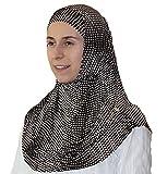 Firdevs Islamic Practical Two-piece Amira Hijab Muslim Headscarf Polka Dot Brown