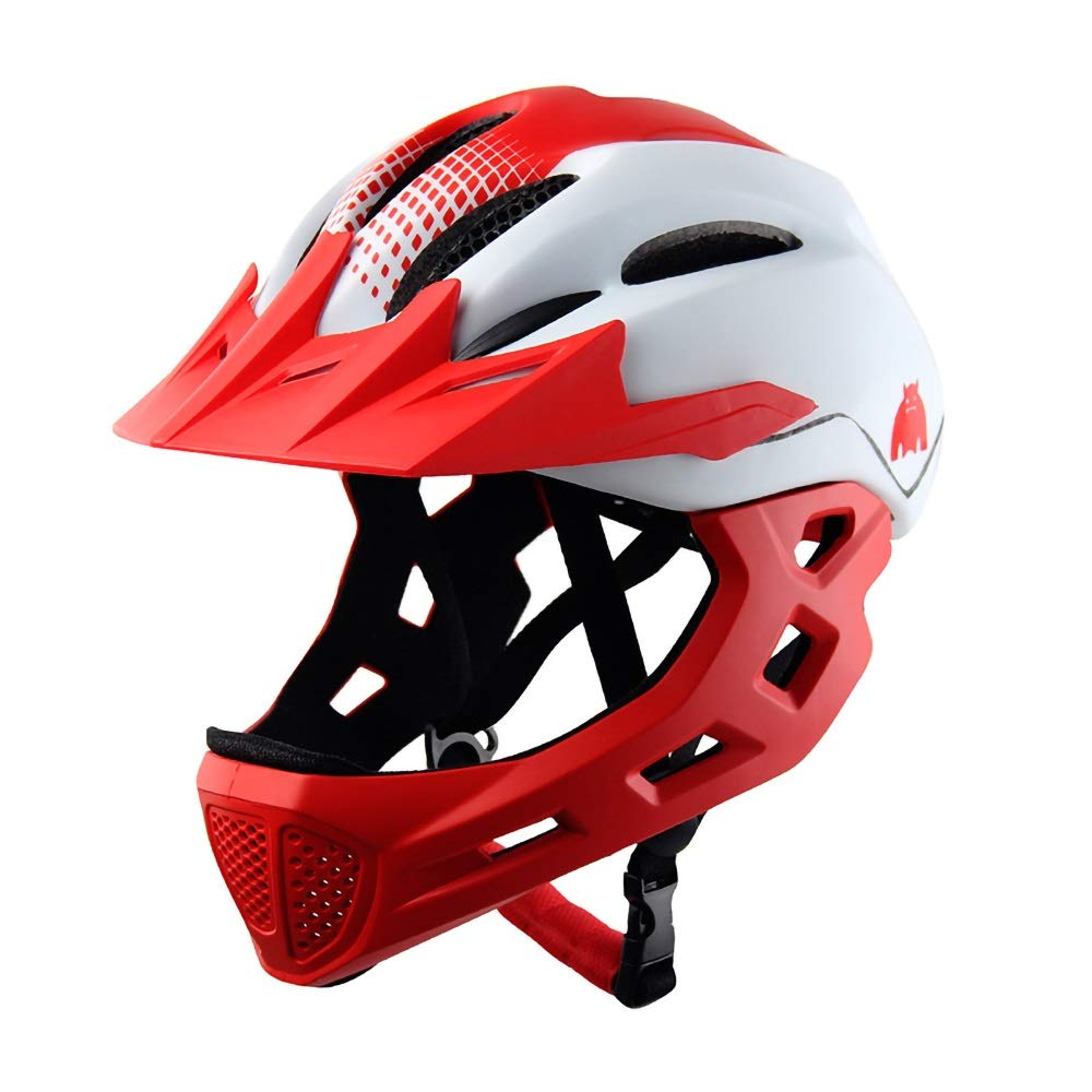幼児用ヘルメット 子供用ヘルメット子供用マルチスポーツ安全自転車用ヘルメット女の子/男の子用サイクリングスケートスクーター(48-58cm、5-14歳) (Color : Red)   B07Q4BJLHQ