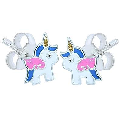 Blue Unicorn Earrings - Sterling Silver khQQkEKQ