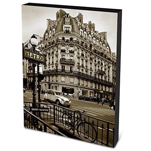 Quadro em Canvas 40x30cm Fotografia Metrô em Paris