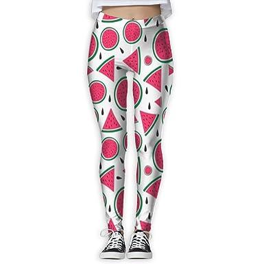 8e02136b730d11 BURNS Watermelon Pattern Yoga Leggings Stretchy Skinny Pants Capris for  Women at Amazon Women's Clothing store:
