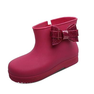 finest selection 00c42 6f2c7 UOVO Mädchen Kurz Gummistiefel Kinder Mode Kurzer Regenstiefel Rutschfeste  Wasserdicht Regen Stiefel