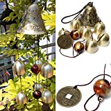 iHappy Outdoor Amazing 6 Bells Copper Wind Chimes Home Yard Veranda Valentine's Day Gift For Sale