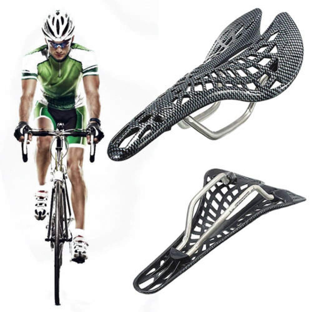 Saddle Seat Hollow Carbon Fiber For Road Racing Bicycle Bike Mtb Cycling Cushion