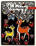 Le cerf et le faon : Coloriage velours (Mes petits tableaux en velours à colorier)