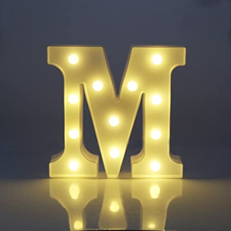Up in Lights, EONANT Decorative Letters Battery Operated LED ...