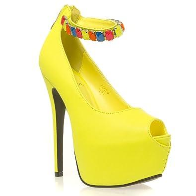 V-Luxury Womens 46-ZOEY2 Peep Toe High Heel Stilleto Platform Pumps ab827a6278