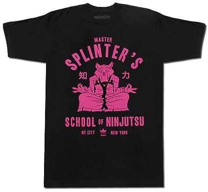 Camiseta negra con diseño del Maestro Splinter de las ...