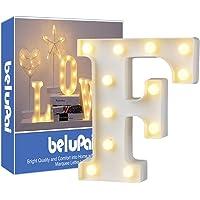 Alphabet Light White LED Lámparas de noche Plastic
