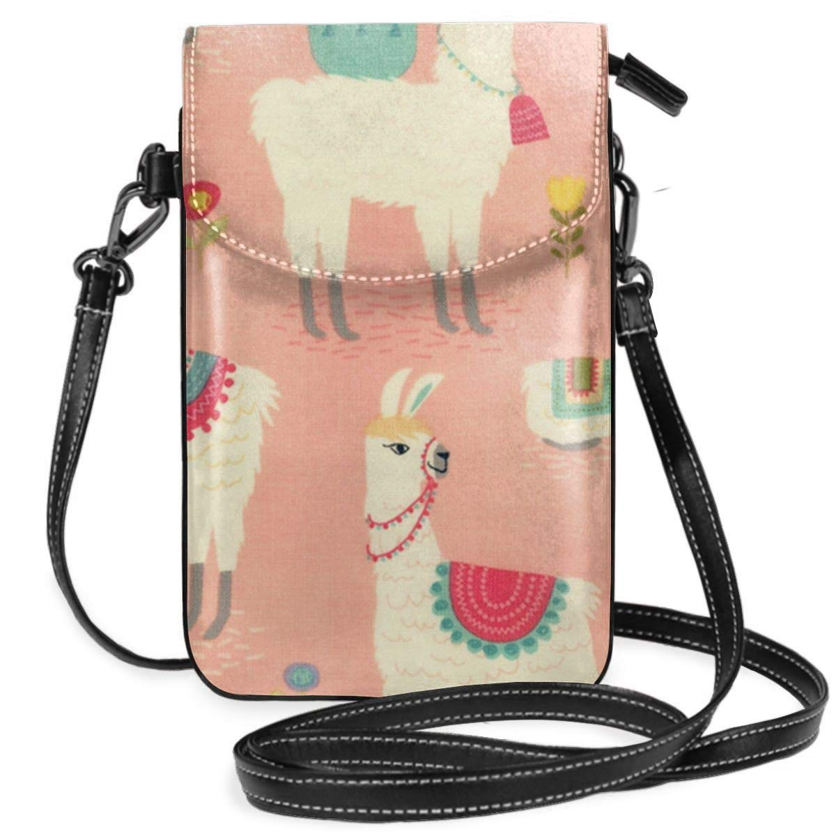 Small Cell Phone Purse Llama Crossbody Bags With Shoulder Strap Coin Purse Wallet For Women,Girls
