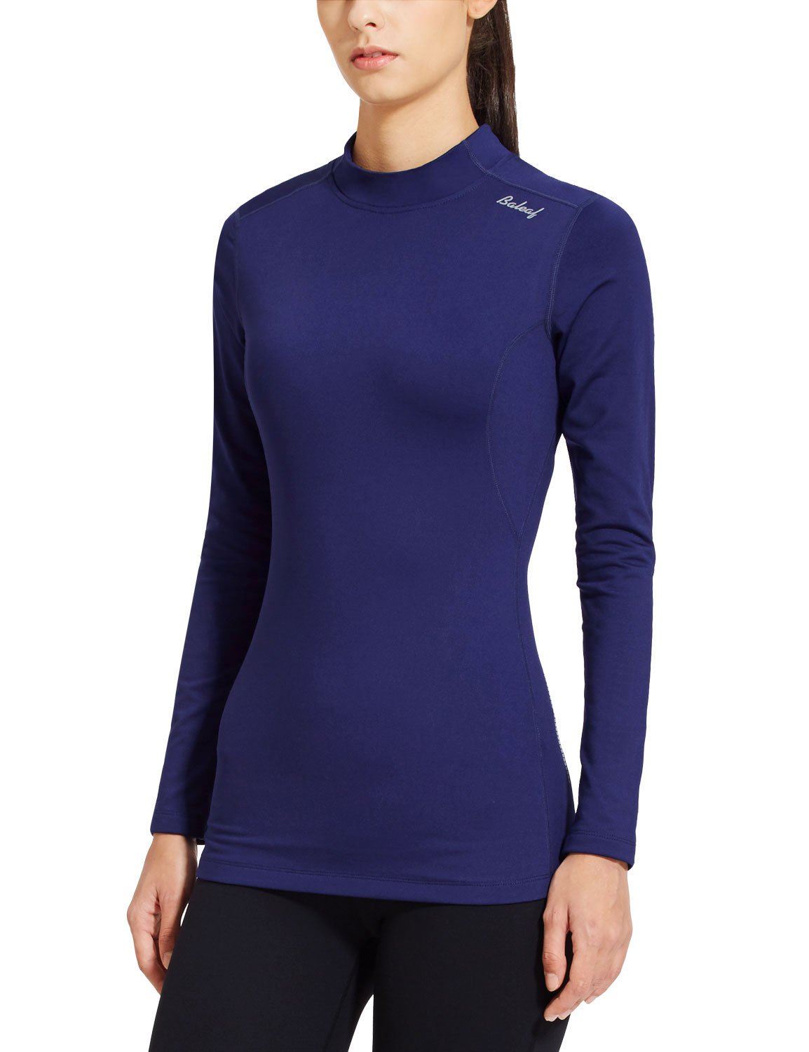 Baleaf Women's Fleece Thermal Active Running Shirt