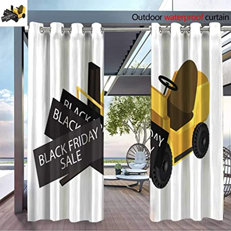 0aa90769e701 Amazon.com   Exterior Outside Curtains Forklift Truck Loading Card for  Patio Light Block Heat Out Water Proof Drape W72 x L84 Pair   Garden    Outdoor