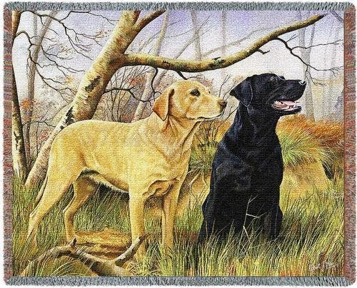 Yellow Lab Tapestry Throw - 2