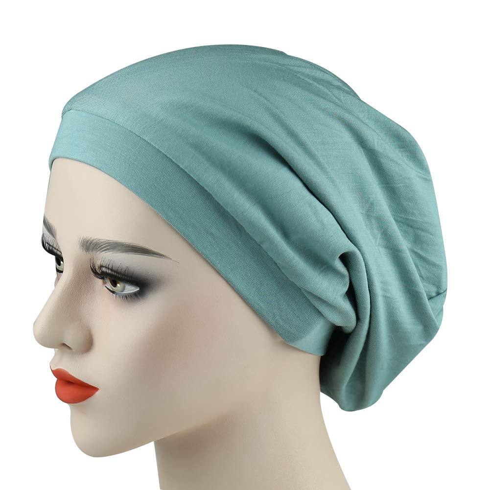 Alnorm Cozy Satin Lined Slouchy Beanie Cap with Soft Elastic Band for Men     Women Christmas gift e95067012db