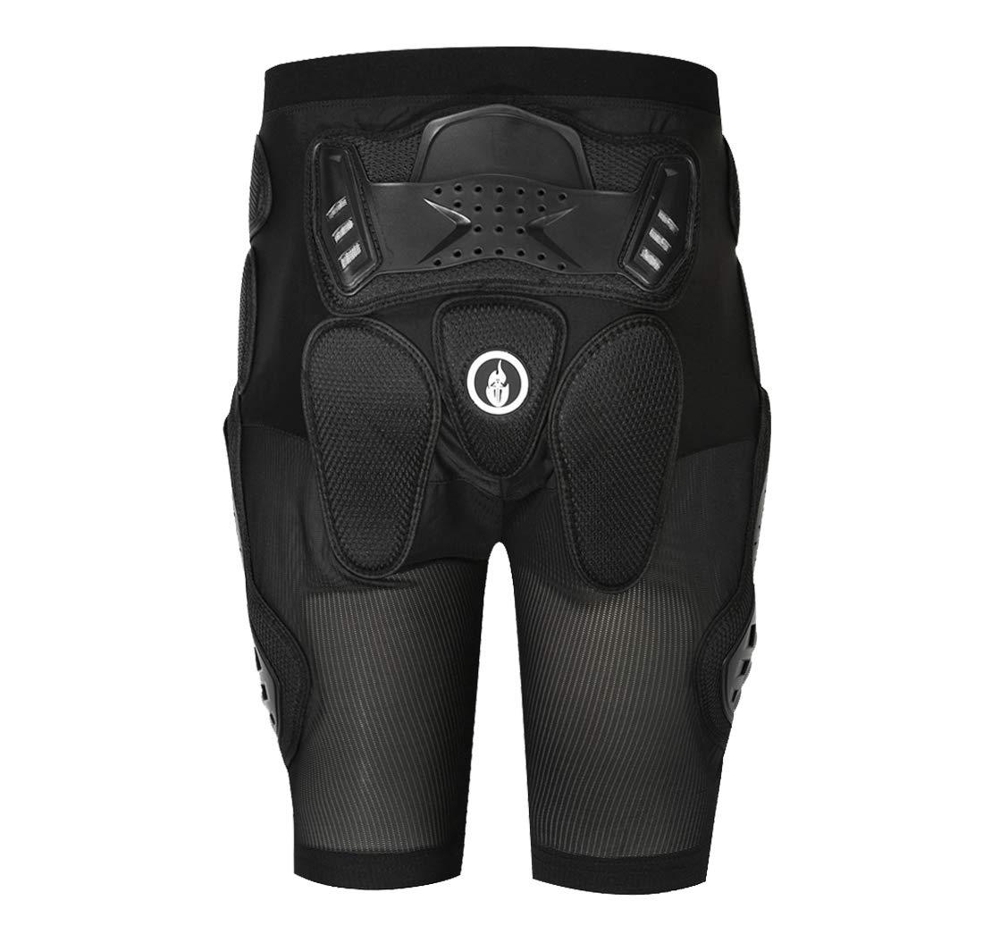 Wolfbike Off-Road Armor Pants Drop Resistance Pants Motorcycle Hip Pad Pants (Medium)