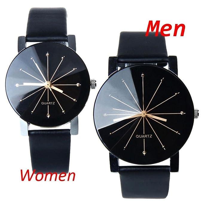 Amazon.com: Perman Men's Analog Quartz Black PU Leather Watch ...