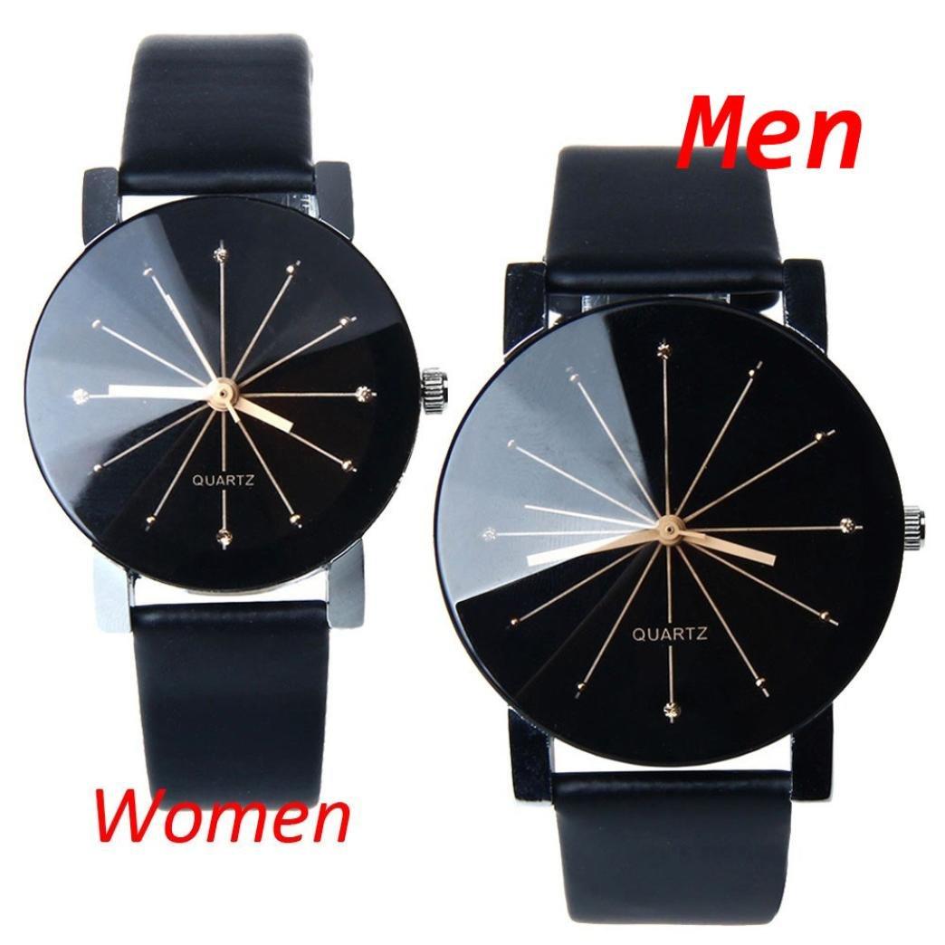 Perman Men's Analog Quartz Black PU Leather Watch by Perman (Image #5)