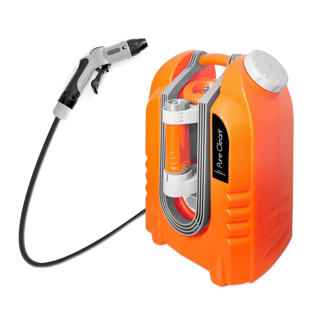 Pure Clean PCRWASHBAT29 portable spray washer W/ Flash Light - Power bank - Carrying Wheels by Pure Clean (Image #1)