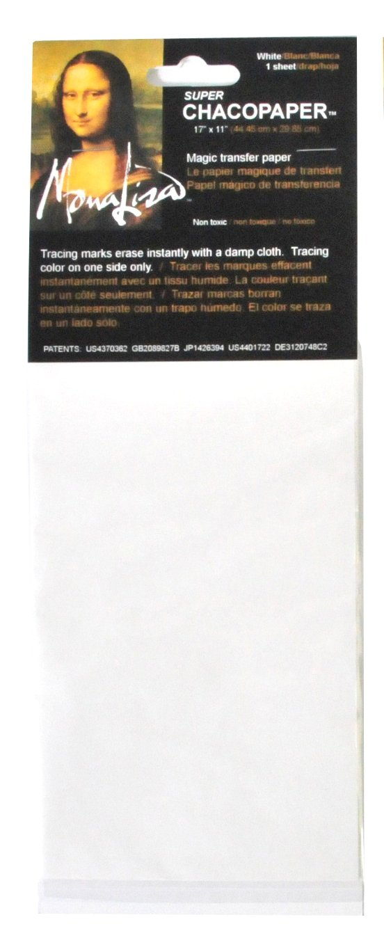 Speedball Mona Lisa 17 1/2-Inch-by-11 3/4-Inch Chacopaper, White by Speedball