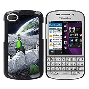 LECELL--Funda protectora / Cubierta / Piel For BlackBerry Q10 -- Astronauta de la cerveza --