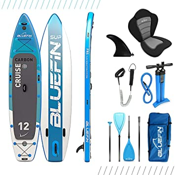 Paquete de Sup Bluefin Cruise | Tabla de Paddle Surf Hinchable | Remo de Fibra de