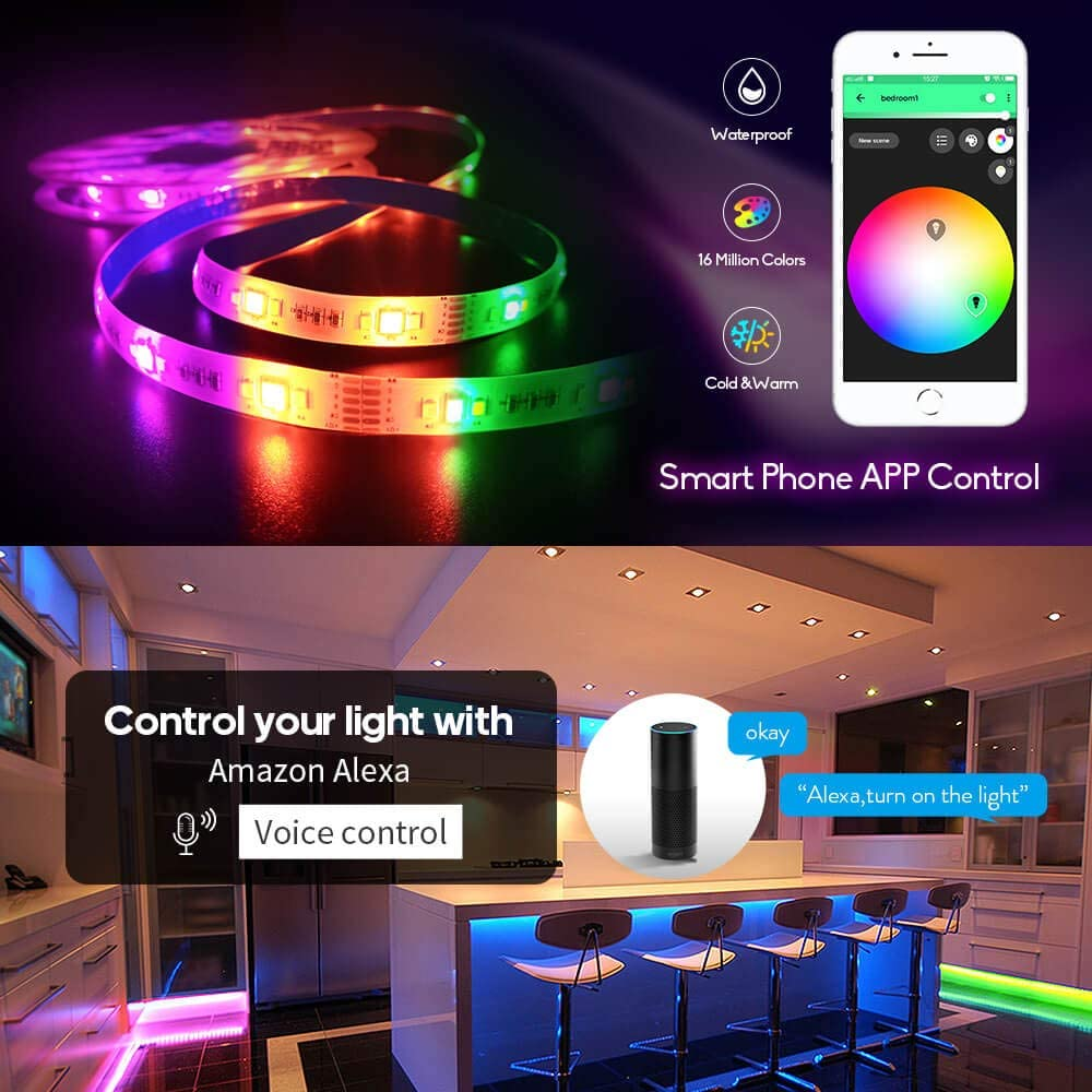 kaltweiss 12V IP20 Streifen RGBCW RGB+CW Stripe LED Strip 5m 300 LED RGBW RGB
