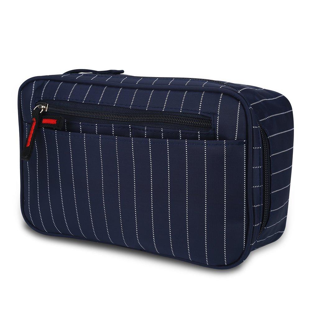 VGEBY 防水洗面用具バッグ 旅行用 吊り下げシャワーキャリーケース 男女兼用 B0776R35WX Dark Blue Stripes
