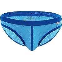 TiaoBug Men's Breathable Underwear Low Rise Briefs Shorts Mesh Cool Bikini Swimwear