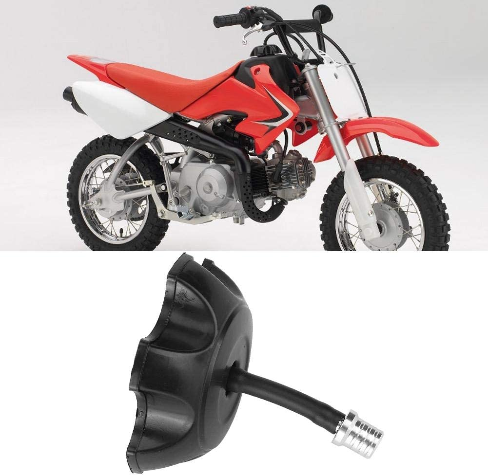 Black Dirt Pit Bike ATV Plastic Fuel Tank Cover with Vent Valve Breather Hose Tube Suuonee Universal Tank Cover