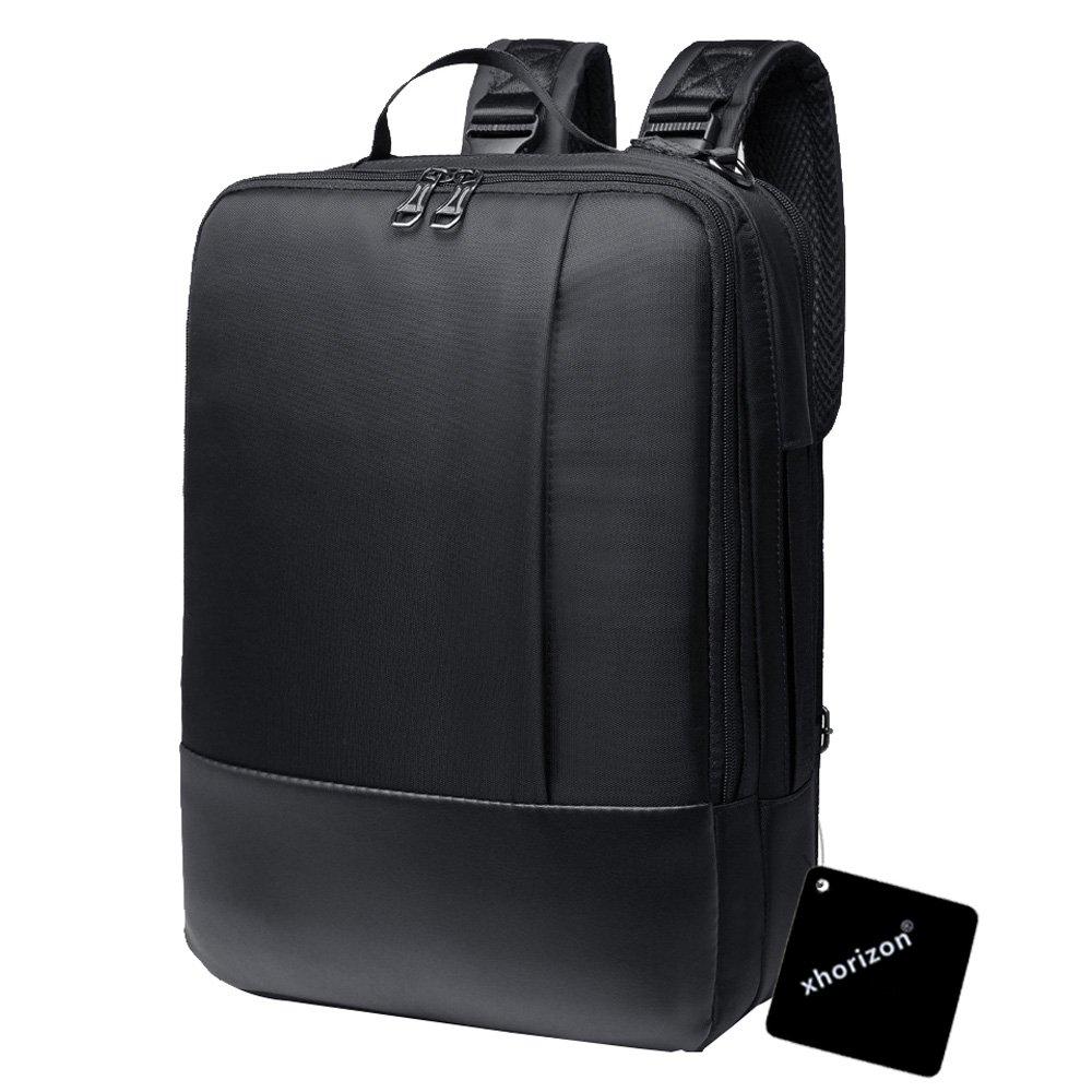 xhorizon TM SR Multi-function Convertible Waterproof Laptop Messenger Computer Bag Business Bag Single Shoulder Backpack Briefcase for iPad Pro, Tablet Laptop, Notebook