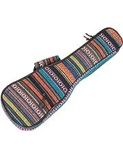 JYSPEN 21 Inch/23 Inch/26 Inch Ethnic Knitting Style Ukulele Bag Backpack Double Shoulder Strap Cotton Padded Ukelele Carrying Case