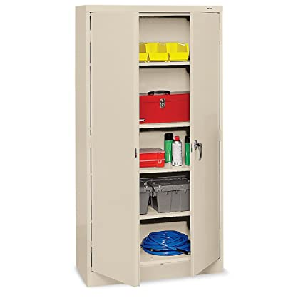 Tennsco Storage Cabinet - 36X18x72u0026quot; - All-Welded - Putty - Putty  sc 1 st  Amazon.com & Amazon.com: Tennsco Storage Cabinet - 36X18x72