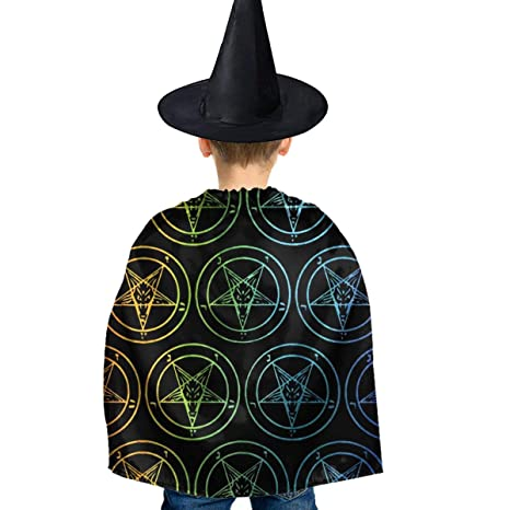 Amoyuan Capa de Bruja Unisex para Halloween, con Sombrero ...