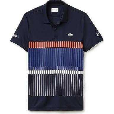 8723985b59e86 Image Unavailable. Image not available for. Color  Lacoste X Novak Djokovic  Vertical Stripe Men s Polo ...