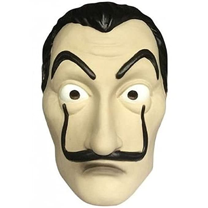 TJoyfun Salvador Dali Mask La Casa De Papel Cosplay Movie Costume Mask Latex Halloween Accessory