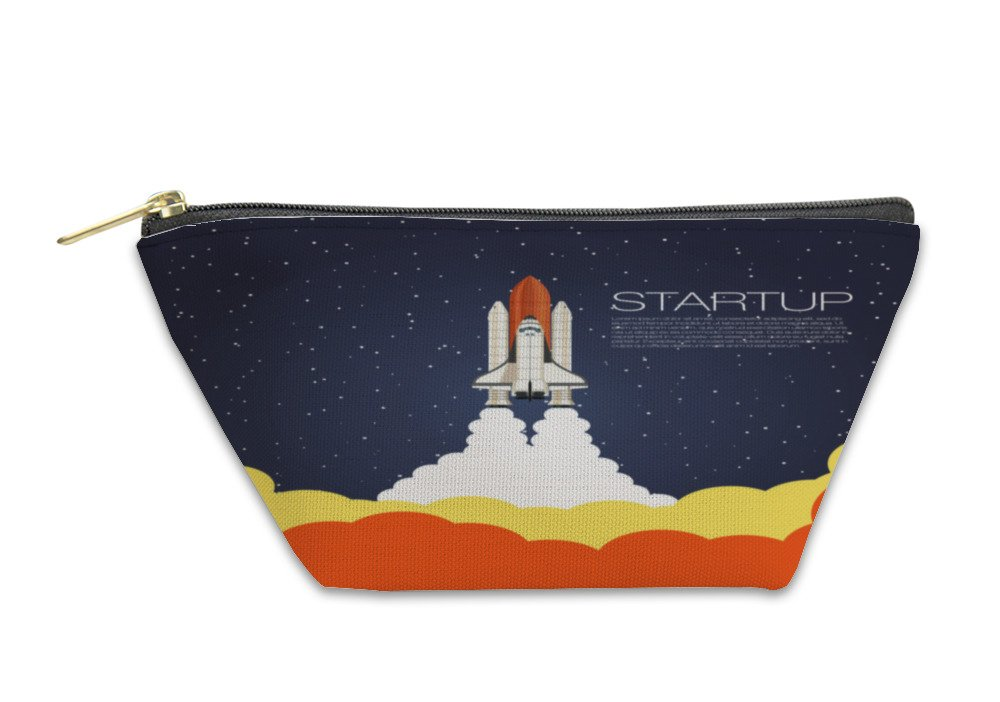 Gear New Accessory Zipper Pouch, Shuttle Launch Spaceship And Space Projects Template For Business, Large, 5789407GN