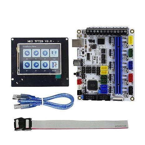 Fxhan - Placa Base para Impresora 3D F5 V1.2 (TFT28, Pantalla de 2 ...