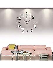 NusGear 3D DIY Reloj de Pared Digital Moderna Reloj para Hogar Arte Reloj de Casera Decoración para Sala