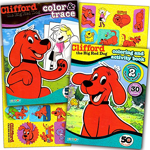 Clifford The Big Red Dog Coloring Book Super Set -- 2 Coloring And Activity  Books, 2 Posters And Stickers- Buy Online In Cayman Islands At  Cayman.desertcart.com. ProductId : 35259697.