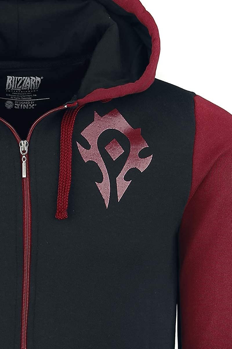 World of Warcraft Horde Pride Felpa Jogging Nero//Rosso