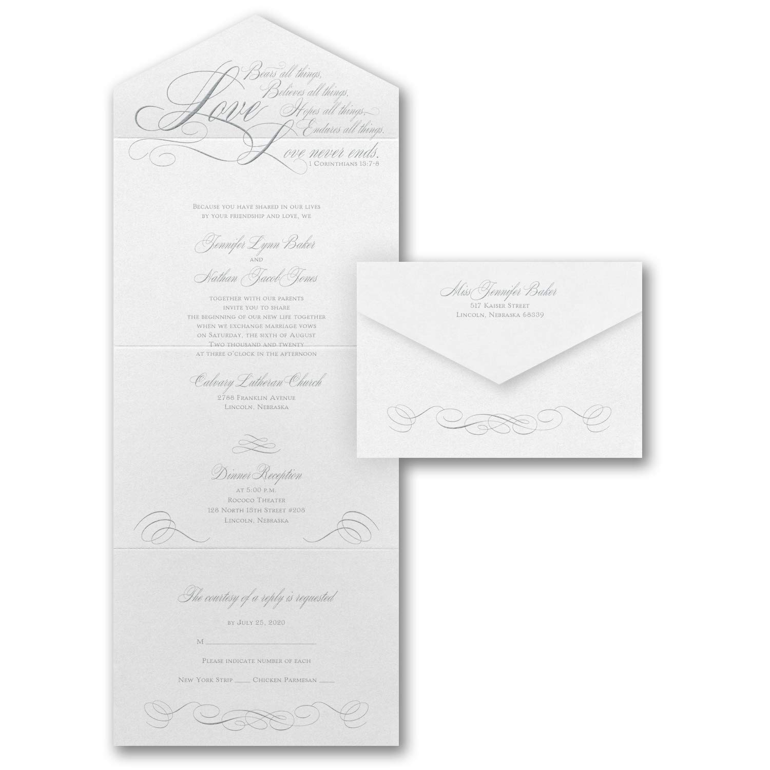 Seal And Send Wedding Invitations.Amazon Com 1225pk Love Never Ends Seal N Send Wedding