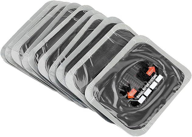 Akozon 10 Stück 80 X 120 Mm Reifenpannen Reparaturflicken Aus Naturkautschuk Schlauchlose Flicken Für Motorräder Und Autos Auto