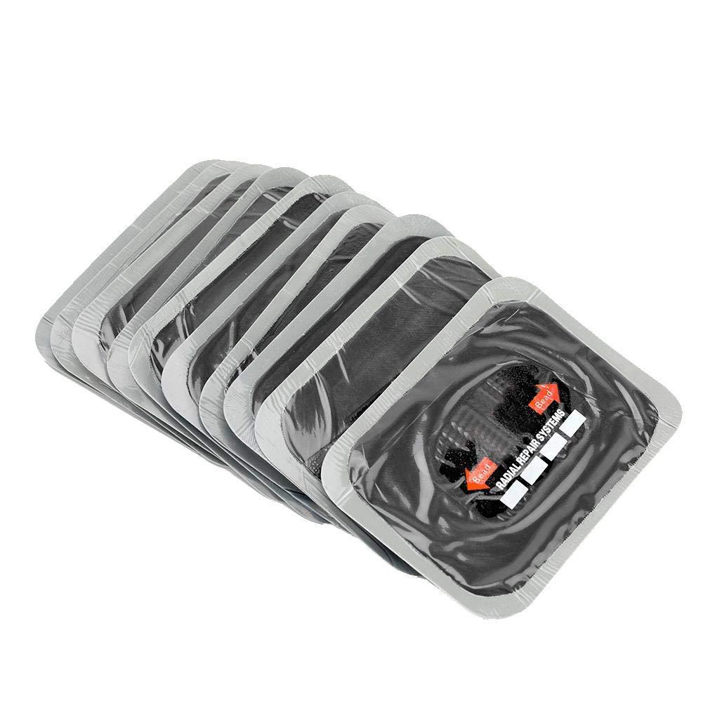 Akozon Toppa di riparazione pneumatici 10 pezzi 80 120 mm auto gomma naturale pneumatici riparazione della puntura della gomma toppe tubeless per moto e auto