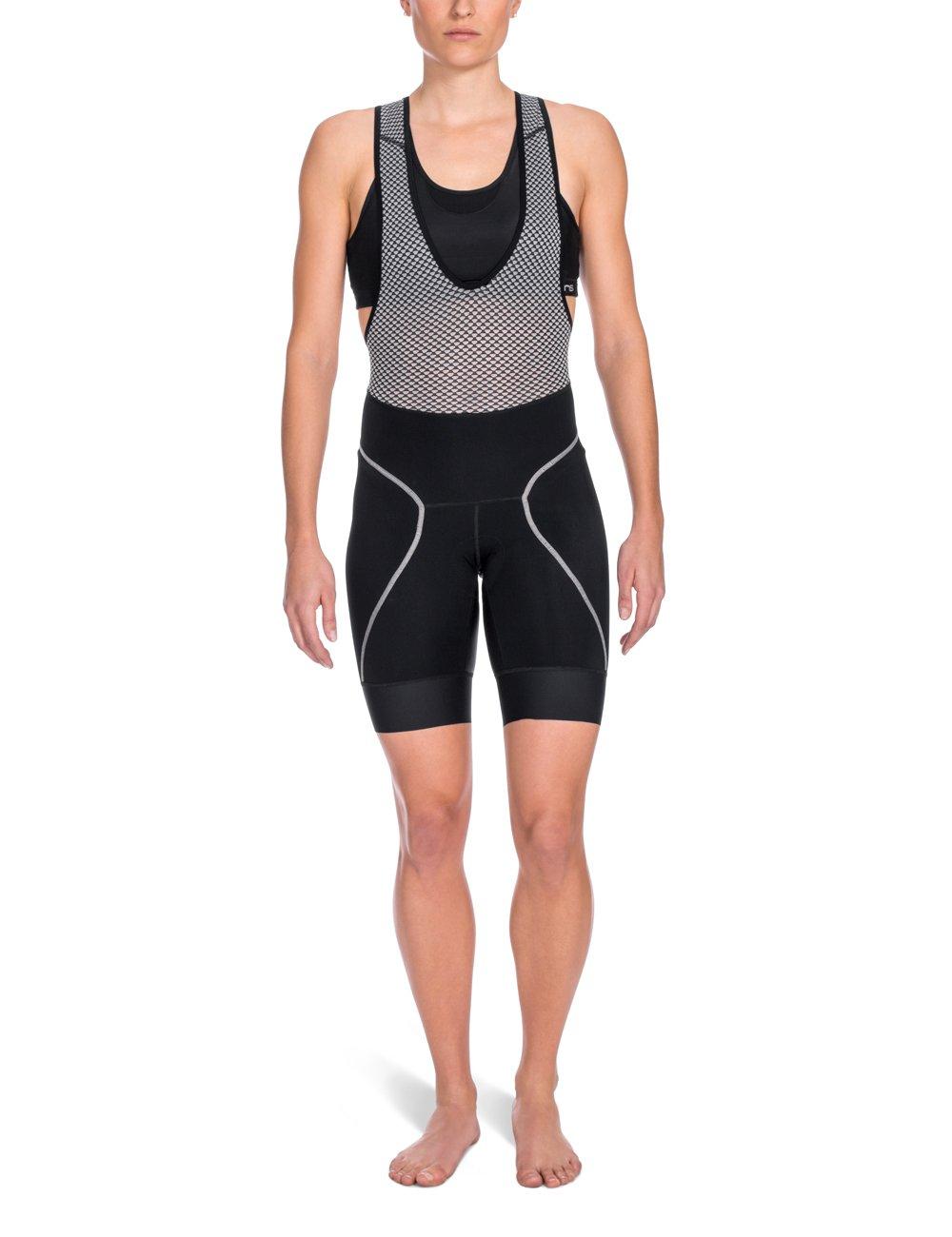SKINS Women's Cycle Bib Shorts, Black, Medium