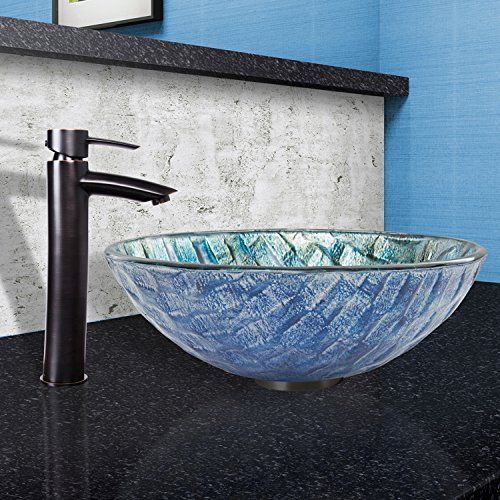 VIGO Shadow Single Lever Vessel Bathroom Faucet with Pop Up, Antique Rubbed Bronze cheap