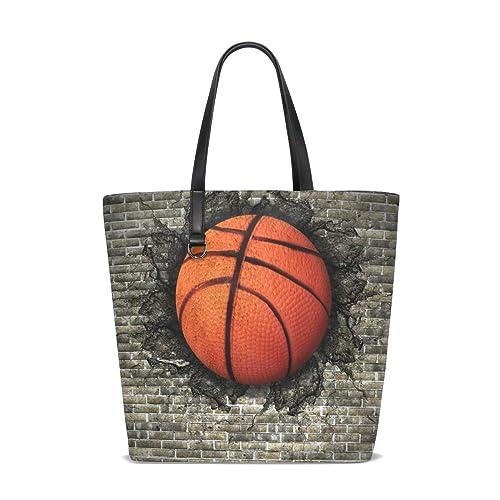 LUPINZ - Bolso de baloncesto para mujer con diseño de pared de ...