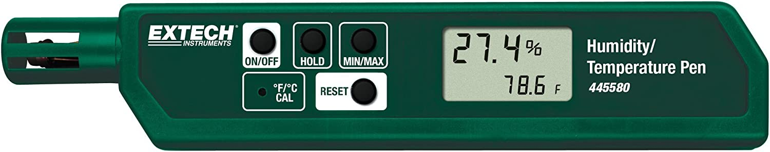 B00023RVR0 Extech 445580 Humidity and Temperature Pen Sized Meter with Pocket Clip 61-gvjD70NS